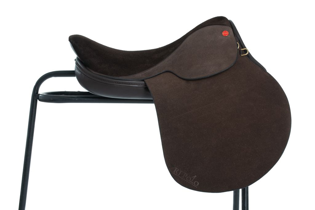 Handmade English Suede Polo Saddle