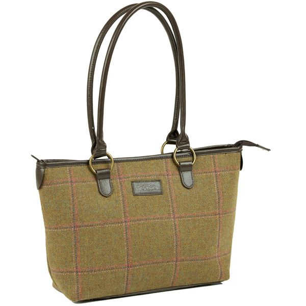 Iris Lt Olive/Pink Tweed Tote Bag