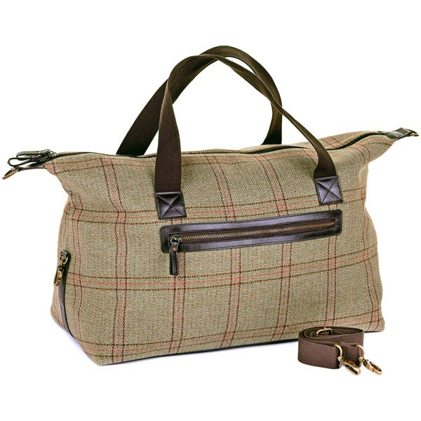 Iris Pale Green/Red Tweed Weekender Bag