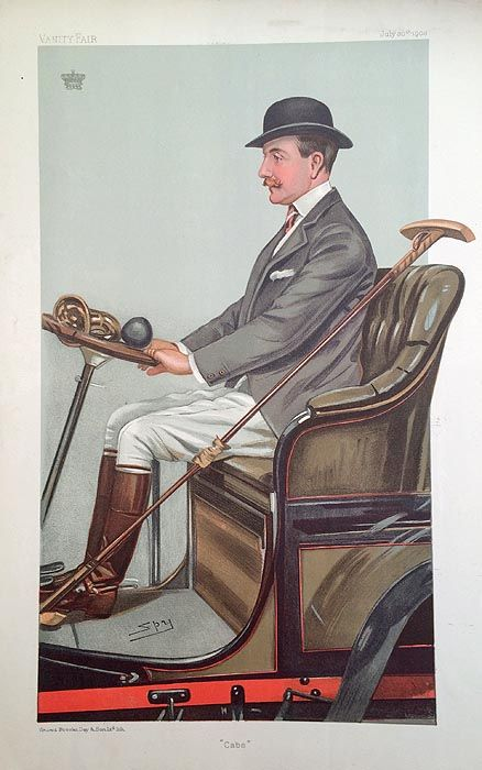 "Vintage Polo Player Print. - ""Cabs"" (Earl of Shrewsbury & Talbot)"
